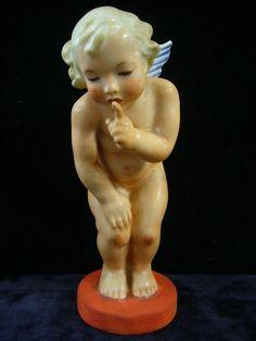 Andělíček - Marie Fischerová-Kvěchová, Pirkenhammer, Březová, 14cm  Czechoslavakia Mario, Sculpture, Statue, Sweet, Vintage, Angels, Candy, Sculptures, Vintage Comics