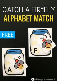 Catch a Firefly Free Summer Alphabet Match Activity Catch a Firefly Alphabet Match Game! Such a fun way to work on the alphabet this summer with your kindergartners or preschoolers! Preschool Literacy, Preschool Printables, Literacy Activities, In Kindergarten, Teaching Resources, Preschool Themes, Kindergarten Worksheets, Insect Activities, Alphabet Activities