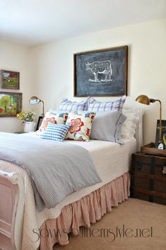 Farmhouse Style Guest Room Spring 2014