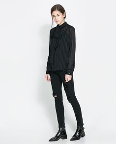 Image 1 of FIVE-POCKET TROUSERS from Zara