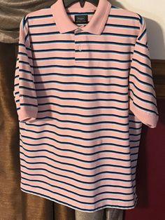 a5144f68 Men's Haggar Performance Wear Golf Polo Shirt Short Sleeve Men's Size L  Cool 18 #Haggar