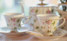 Beautiful floral china for tea time   My Cozy Corner blog: