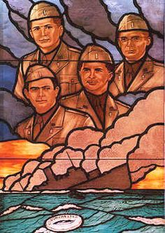 The Four Chaplains in Stained Glass at the Pentagon