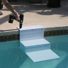 Paws Aboard Pool Pup Steps Using dog stairs in the pool keeps everyone happy; you stay dry while providing a safe, easy escape for your happily-swimming dog. Did you know that each year approximately