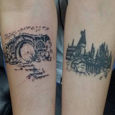 Bag end is fresh. Hogwarts is nearly a year healed :D #bagend #hobbit #hogwarts #harrypotter