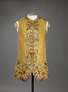 Man's Rococo waistcoat is both bold & in control Tumblr Waistcoat 1760-80 From the Digitalt Museum @Kristina Moellering Cultures