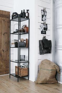 VITTSJÖ IKEA (49€) auch in weiss (Metall & Glasböden) 51x175x36(T)