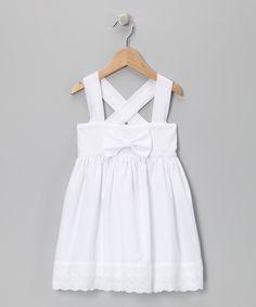 White Eyelet Bow Dress - Fantaisie Kids.