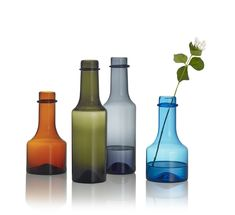 The bottle makes for a beautiful interior design element and art object that also works well as a carafe or vase for a single flower. Interior Design Trends, Interior Design Elements, Beautiful Interior Design, Beautiful Interiors, Design Shop, House Design, Bottle Design, Glass Design, Ikea Ps 2017