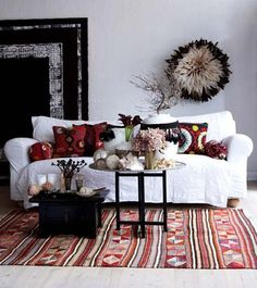 rug, couch, pillows!