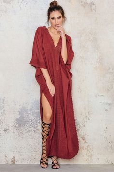 """Embroidery Caftan  Use the promo code """"Classyinthecity"""" for 20% OFF"""