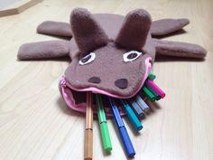 Pencil case horse  Federtasche Pferd  Nähen DIY sewing