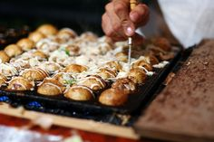 Takoyaki.. need to get one of these pans!