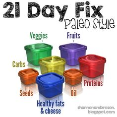 21 Day Fix meal plan and shopping list, Paleo style Follow along for weekly meal plans, daily meal work workout posts, honest opinions and results!