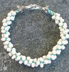 Stylish Seed Beaded Kumihimo Bracelet...tut...intermediate...