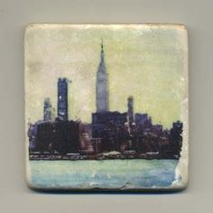 New York Skyline  Original Coaster by re4mado on Etsy, $14.99