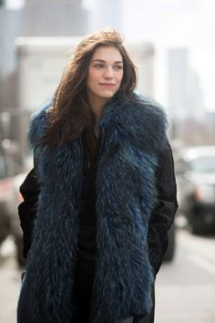 epic stole. #SamanthaGradoville #offduty in NYC.
