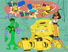 John Scroggins - Mechanica & Helix - Nintendo ARMS fan art - scrogginsjh.tumblr.com
