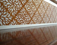 Geometric Modern / Alternative to Vinyl Stair Decals and Stair Stickers / Scandinavian Modern / White Home Decor / Birch Wood / Item 080