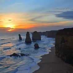 Made it to the 12 Apostles just in time for this beautiful sunset! We had an awesome time spending the last few days driving the Great Ocean Road from Adelaide to Melbourne! I even drove on the left for the first time  #OZ #GreatOceanRoad #roadtrip #friends #camping #southaustralia #12apostles #sunset #backpacking #travel #adventure by goneventuring
