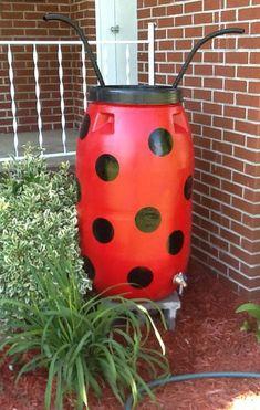 Ladybug Rain Barrel