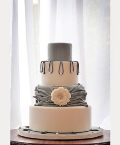 Glorious Gray Wedding Cakes for 2015 - Mon Cheri Bridals