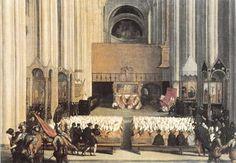 Sesión del Concilio de Trento, anónimo veneciano, Museo del Louvre.