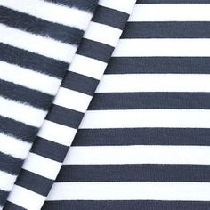 Sweatshirt Baumwollstoff  Streifen  Farbe Navy-Blau Weiss