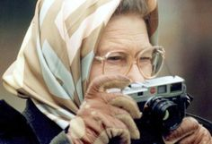 The Queen of England with a Leica M6