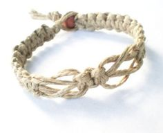 Love Knot Surfer Hawaiian Style Hemp Bracelet So simple but in the right color it would be nice.