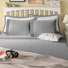 Laurel Foundry Modern Farmhouse Eldon Solid Color Sheet Set Size: Queen, Color: Off White Trundle Mattress, Twin Daybed With Trundle, Joss And Main, Ruffle Bedding, Sofa, Murphy Bed, Quilt Sets, Bed Sizes, Comforter Sets