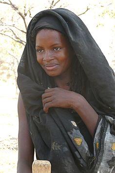 Africa |  Baggara 'Fulani' nomad photographed in the Baggara Region (South-West Liri - Kordofan) Sudan | © Rita Willaert