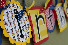 *Mickey Mouse birthday banner