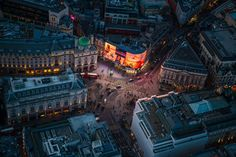 The new lights at Piccadilly Circus.