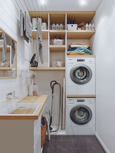 perfect laundry room designs ideas for small space 44 ~ mantulgan.me perfect laundry room designs ideas for small space 44 ~ mantulgan.me - Own Kitchen Pantry Modern Laundry Rooms, Laundry Room Layouts, Laundry Room Remodel, Basement Laundry, Small Utility Room, Utility Room Storage, Laundry Room Organization, Laundry Room Design, Home Room Design