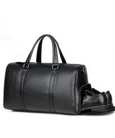 Buy Leather Travel Weekender Overnight Duffel Bag Gym Sports Luggage Tote For Men & Women - black - and More Fashion Bags at Affordable Prices. Mens Travel Bag, Travel Bags, Rolling Duffle Bag, Zipper Bags, Large Bags, Luggage Bags, Fashion Bags, Men's Fashion, Fashion Trends