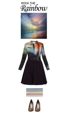 """""""Rock The Rainbow"""" by jleigh329 ❤ liked on Polyvore featuring J.W. Anderson, Mary Katrantzou, women's clothing, women's fashion, women, female, woman, misses, juniors and rainbow"""