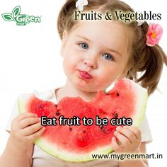 Eat fruit to be cute Eat Fruit, Vegetables, Gallery, Face, Green, Veggies, Veggie Food, The Face, Vegetable Recipes