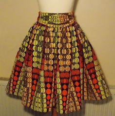 Afrikaanse afgedrukt rok knie / rug taille door MasheesGiftShop