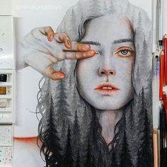 """Gaia"" Finally done! Caption This ❤ Watercolor and Colored pencils on paper. Human Sketch, Artist Sketchbook, Sketchbook Ideas, Art Folder, Ap Art, Online Art, Insta Art, Art Inspo, Art Sketches"