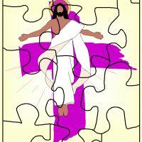 Printable religious puzzle.