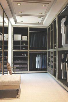 Elegant walk-in closet design | Bedroom decor ideas | Bedroom design| Luxury bedroom | Contemporary Bedroom | For more inspirational ideas take a look at: www.homedecorideas.eu