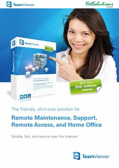 PT. #Netsolutions Infonet #TeamViewer Remote Maintenance, Support, Remote Access, and Home Office
