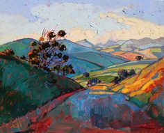 """""""California Light"""" is an original oil painting by open-impressionist artist Erin Hanson."""