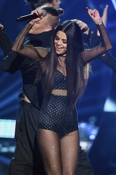 Selena Gomez Performs 'Same Old Love' at AMAs 2015 - Watch Now!: Photo Selena Gomez wears a sheer outfit to perform her hit song Selena Gomez Fashion, Selena Gomez Outfits, Fotos Selena Gomez, Estilo Selena Gomez, Selena Gomez Daily, Selena Gomez Style, Selena Gomez Concert, Selena Selena, Demi Lovato