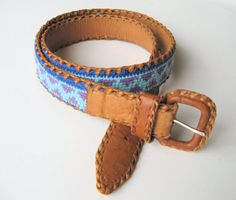 Vintage Woven/Braided Leather Mexican Belt by MarketHome on Etsy, $16.00