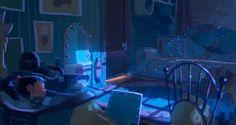 Clément Griselain : Despicable Me 2 Environment Concept Art, Environment Design, Medan, Soirée Halloween, Drawing Room Design, Bg Design, Color Script, Landscape Concept, Color Studies