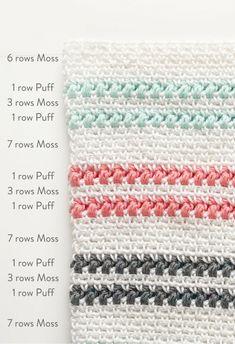 crochet moss and puff stitch blanket - Daisy Farm Crafts free crochet pattern