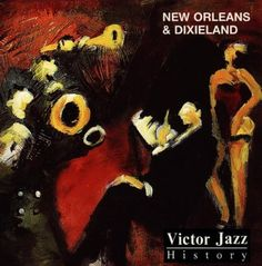 1996 Victor Jazz History Vol.1: New Orleans  Dixieland [RCA 74321285552] cover painting by Alice Choné #albumcover
