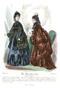 1870s Fashion, Edwardian Fashion, Women's Fashion, Victorian Women, Victorian Era, Fashion Illustration Vintage, Fashion Illustrations, 19th Century Fashion, Bustle